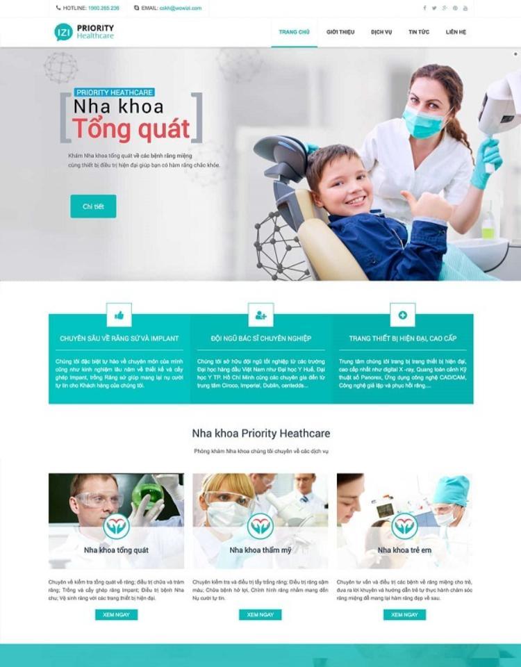 Những tiêu chí khi thiết kế website phòng khám nha khoa